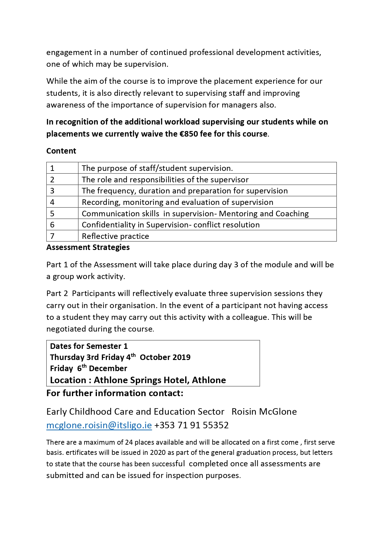 Supervision Theory & Practice - Roscommon Childcare Committee