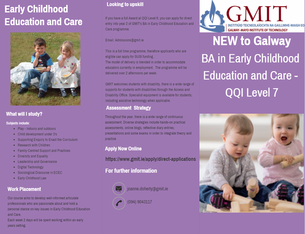 GMIT - BA Early Childhood Education & Care QQI Level 7