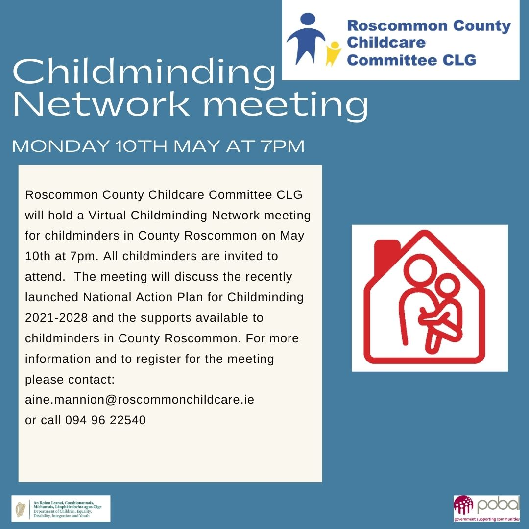 Roscommon CCC Childminding Network Meeting 10.05.2021